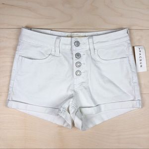 NWT PacSun Super Stretch Shortie White Shorts